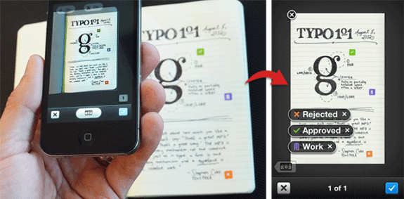 Evernote iPhone app Evernote Moleskin