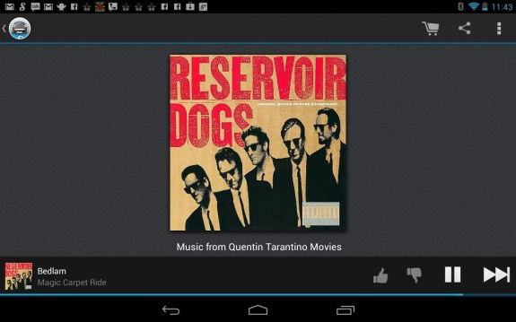 Songza Android Tablet Nexus 7 App