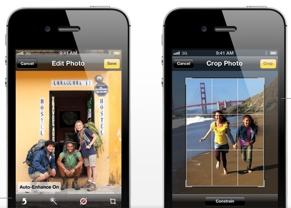 iOS 5 photo editing