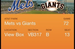 Giants Passbook Ticket