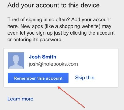 Google iPhone Account Chooser 2