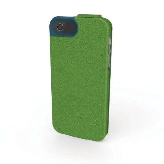 Portafolio Flip Wallet iPhone 5 Green_Blue Nappa Back