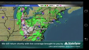 Live Hurricane Sandy on iPhone & Android