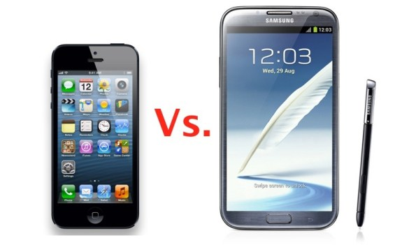 iPhone 5 vs Galaxy Note 2