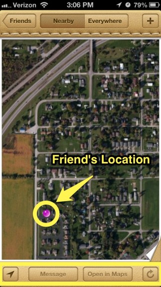 Location of Friends