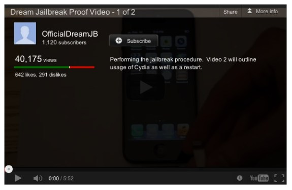 Fake iOS 6 jailbreak video
