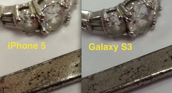 iPhone 5 v Galaxy S3 Macro comparison