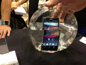 The Sony Xperia Z, the company's latest flagship, has a massive 5-inch 1080p display.