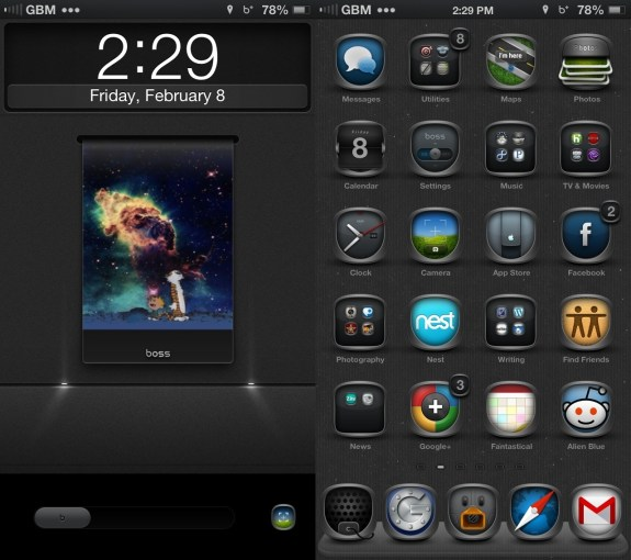 Best Cydia Themes - iOS 6 Winterboard Themes - Boss iOS
