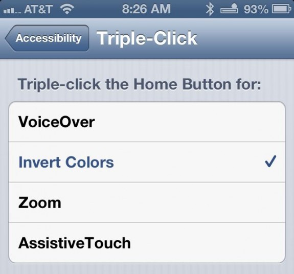 triple-click home features