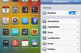Springtomize best cydia apps