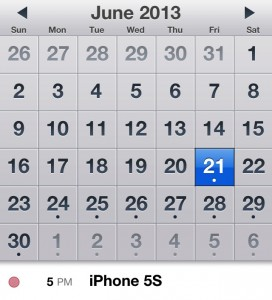 The iPhone 5S release is likely due for Q3 2013.