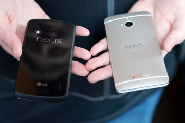 The Nexus 4 is competing against the likes of the HTC One.