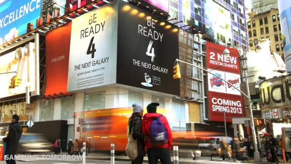 Could this be the new Samsung Experience in Times Square? If so, will Samsung allow fans to get a Samsung Galaxy S4 hands on ahead of the U.S. release date? It's looking more and more likely.