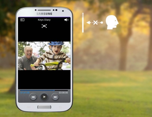 Look away to automatically pause a video on the Galaxy S4.