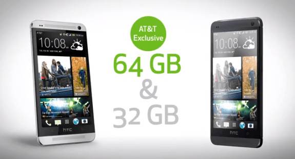 Sprint and T-Mobile seem to be out of luck with the 64GB HTC One.