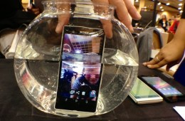 The Sony Xperia Z design is both water and dust resistant.