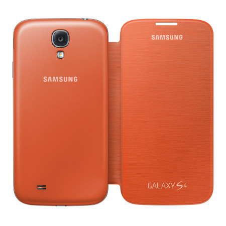 The snap on Samsung Galaxy S4 flip cover can change the color of the Galaxy S4 for $35.