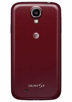The red AT&T Galaxy S4.