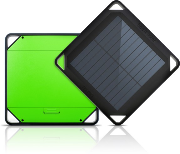 The Etón BoostSolar is a solar charger with a 5,000 mAh battery.