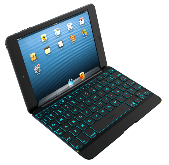 A backlit iPad mini keyboard case from ZAGG.
