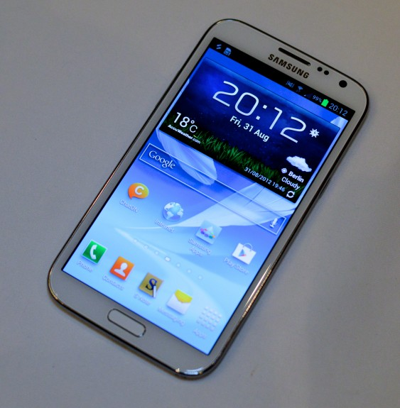 The Galaxy Note 2 display is good, but the Galaxy Note 3 display will likely be better.