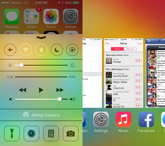 Smarter multitasking and a new Control Center are in iOS 7.