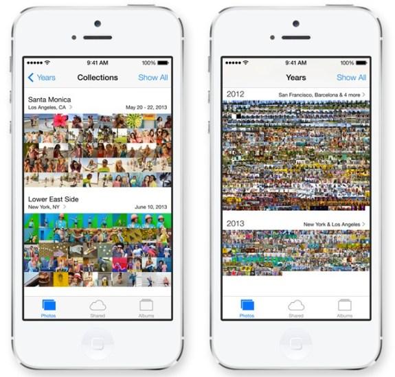 The new iOS 7 Photos app makes finding photos easier.