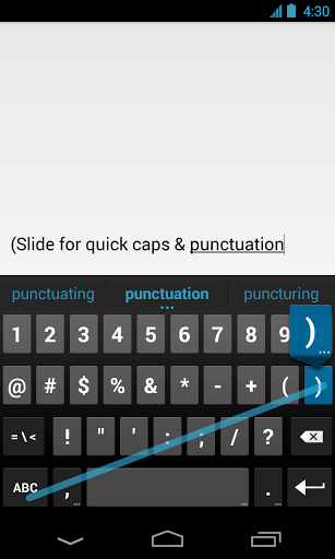 The Google Keyboard for Android