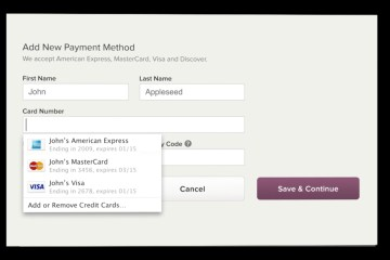 iCloud Keychain will remember your credit cards.