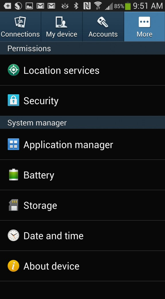 gs4 settings more