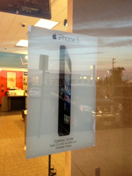 iPhone 5 ad at Verizon Store.