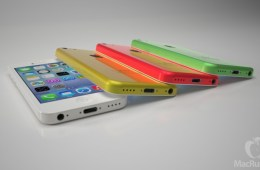 Rendering of the low-cost iPhone in an assortment of colors via MacRumors
