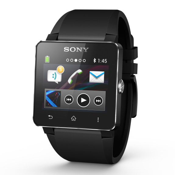 As pictured, Sony's SmartWatch 2