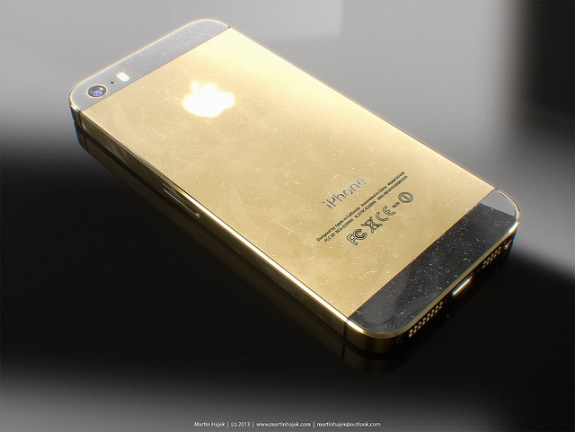 What a finished iPhone 5S in gold could look like.