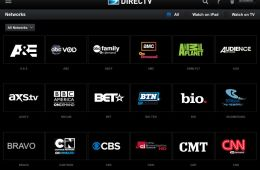 directv new ipad app networks page