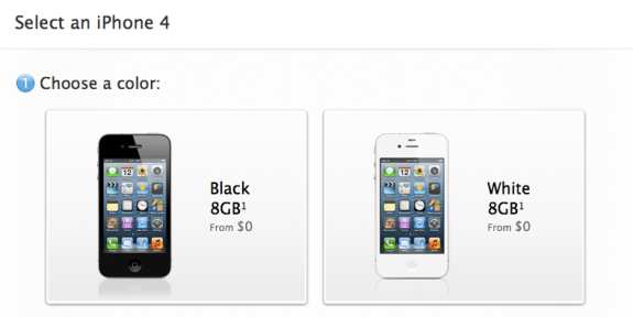 The iPhone 4 no longer comes in anything larger than 8GB form.