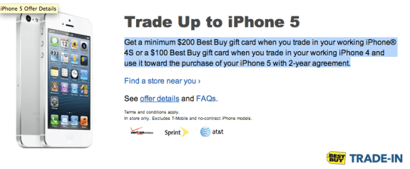 Best Buy iPhone 5 Trade