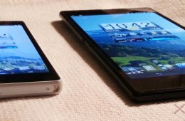 The device makes even the 5-inch Xperia Z look small.