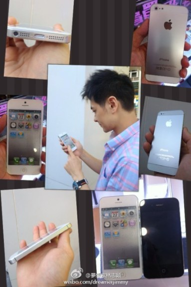 "Lin with the ""iPhone 5"" ahead of launch."