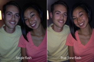 True Tone flash yields more natural skin tones