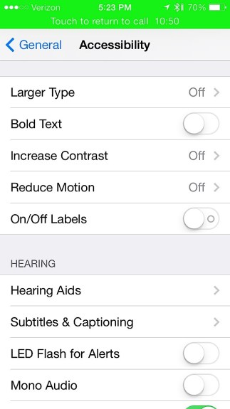 Make iOS 7 text easier to read.