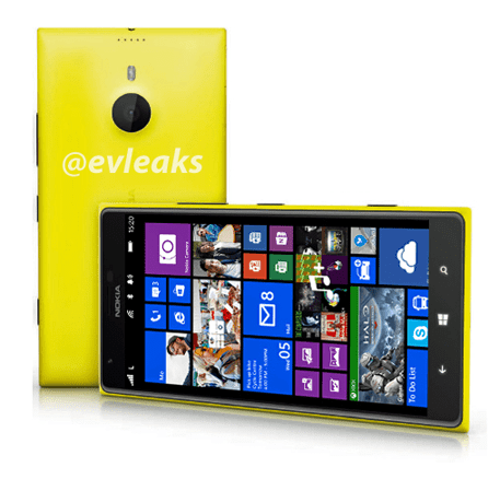 Renders of the Lumia 1520 posted by Evleaks.