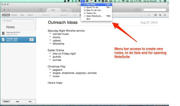 notesuite for osx