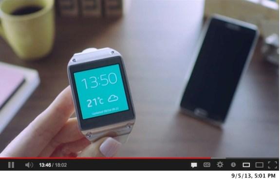 The Samsung Galaxy Gear