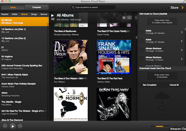 Amazon Cloud Player App for Mac
