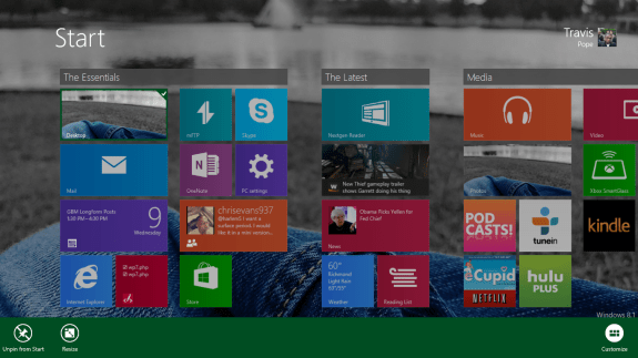 How to Resize Live Tiles in Windows 8 (4)