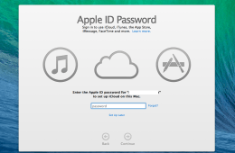 Finish the OS X Mavericks upgrade process and sign up for iCloud Keychain.