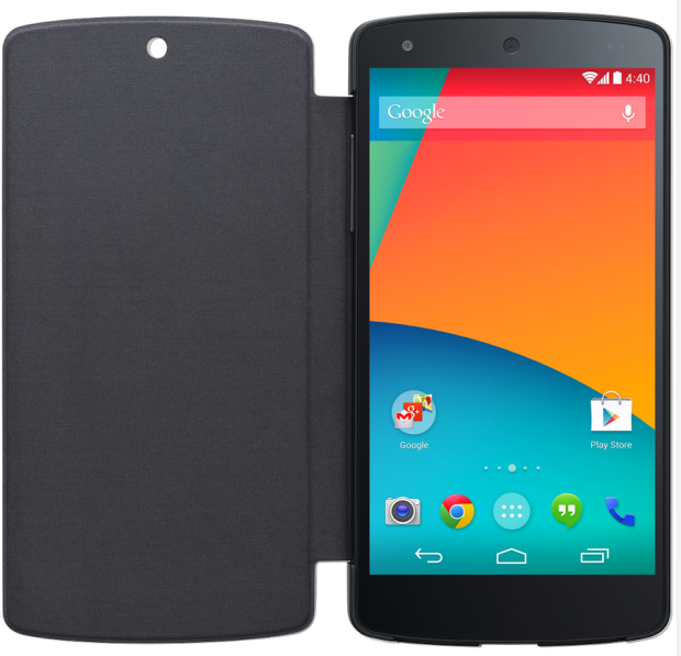 The LG QuickCover for Nexus 5 is a $50 Nexus 5 case.