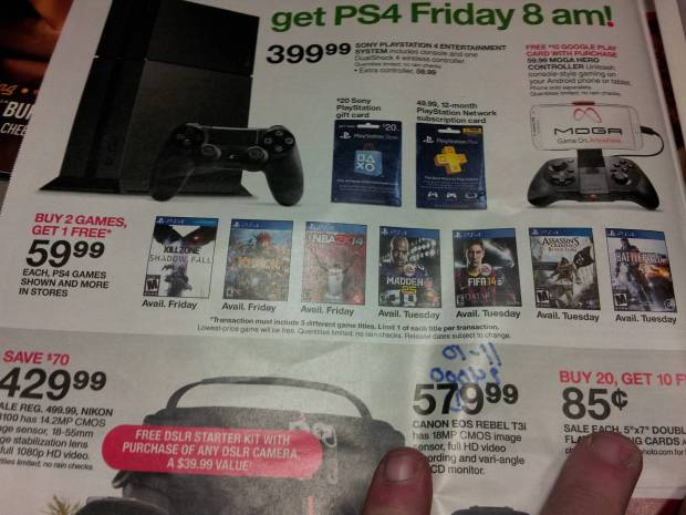 target ps4 ad